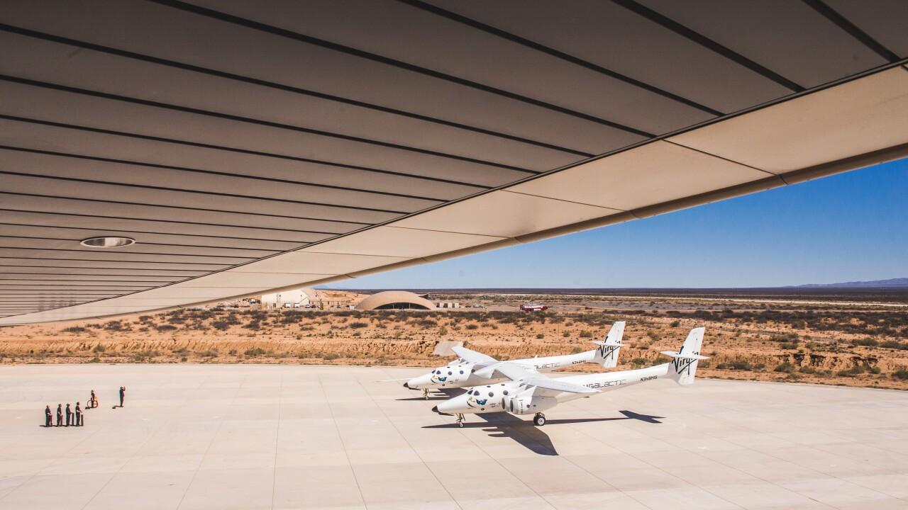VMS Eve Prepares for Flight at Spaceport America