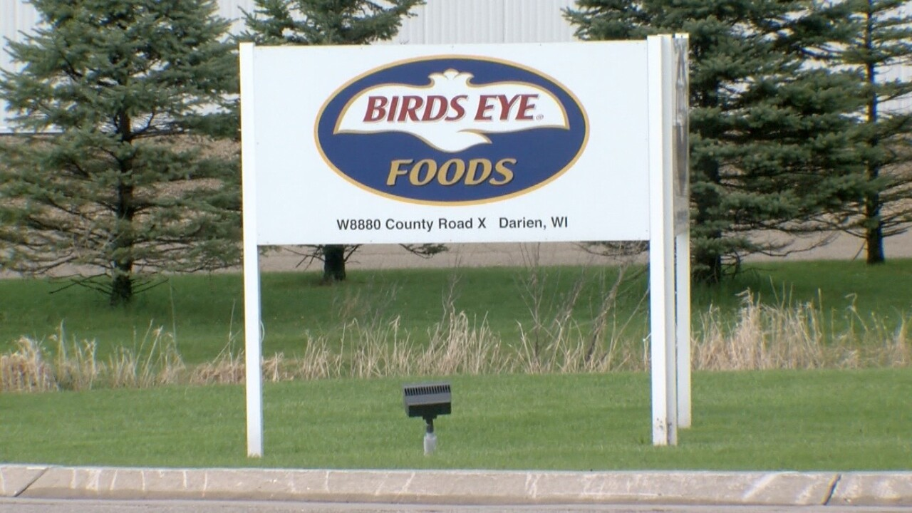 Birds Eye food processing plant in Darien, Wisconsin.