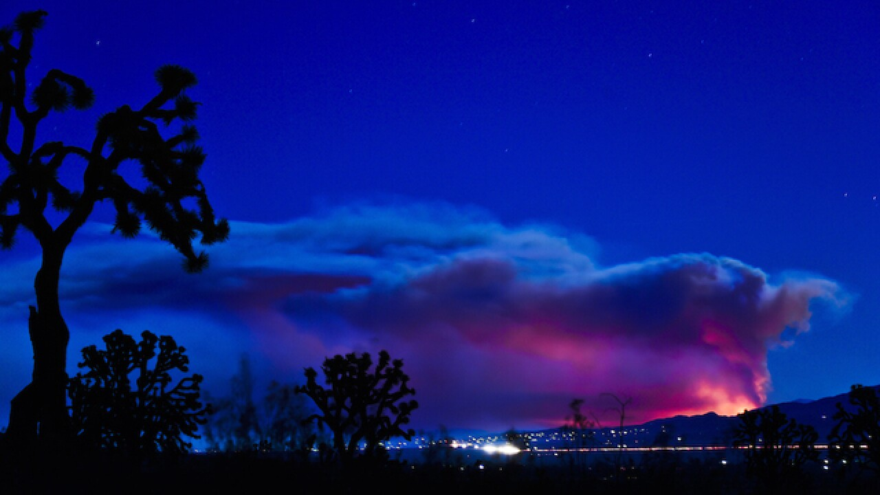 Stunning shots of wildfire spread on Instagram