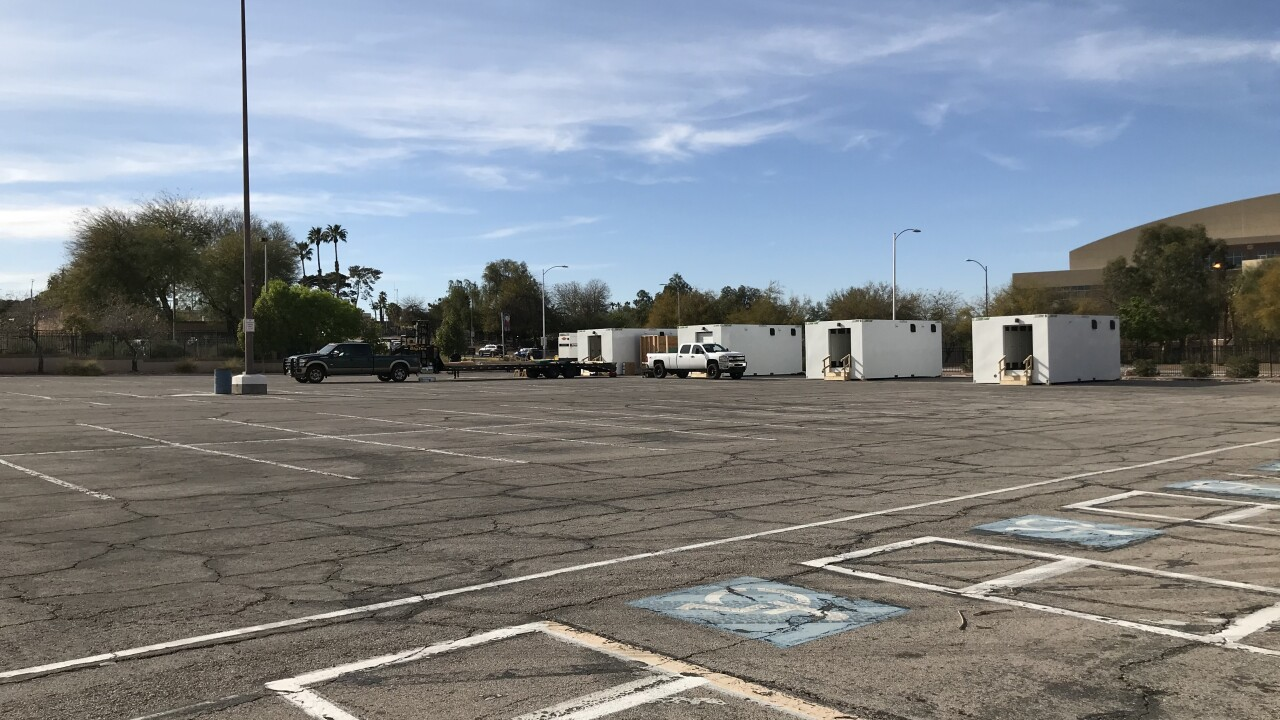Las Vegas authorities are building a treatment campus that can care for up to 350 homeless individuals impacted by COVID-19