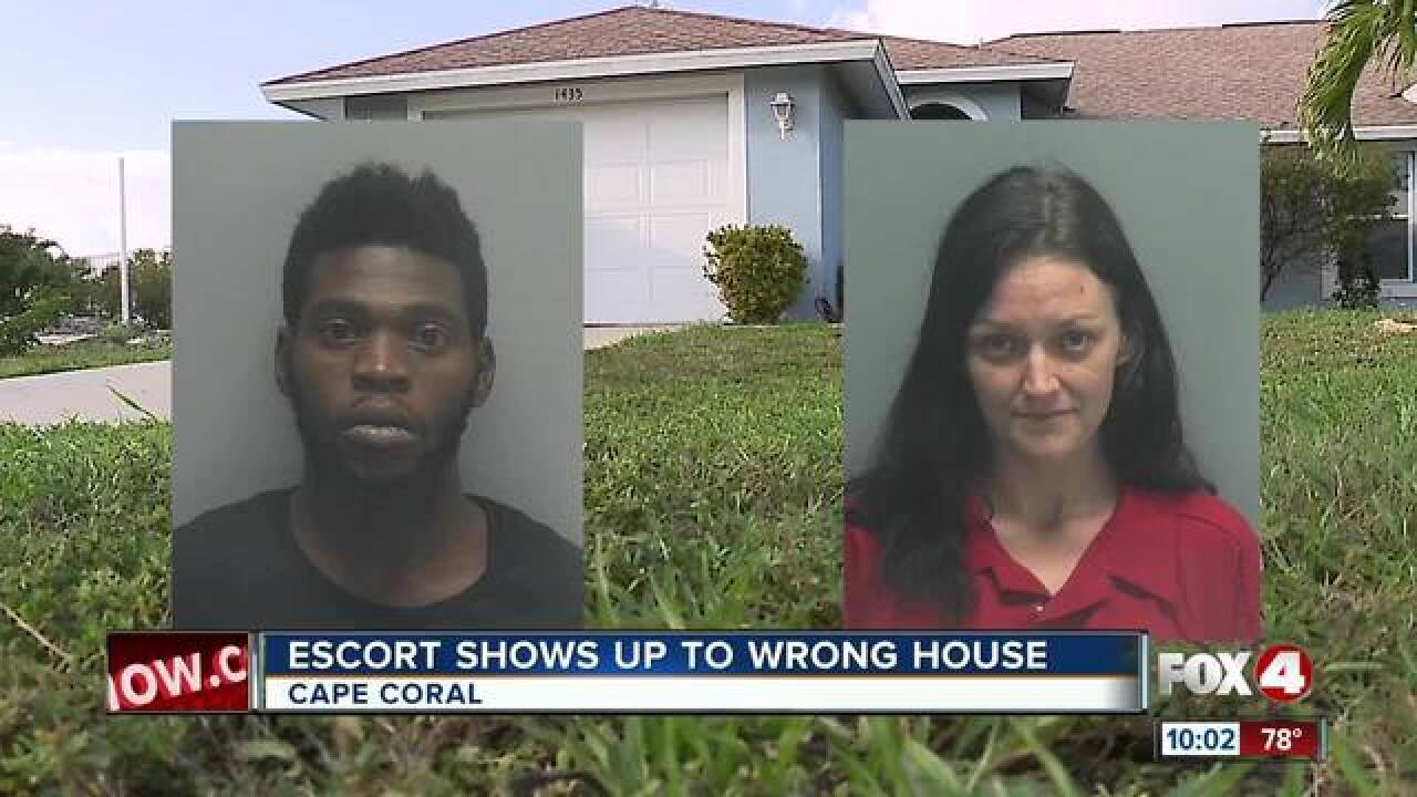 Escort shows up at wrong house in Florida