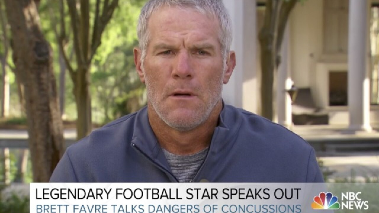 Brett Favre: I've probably had thousands of concussions