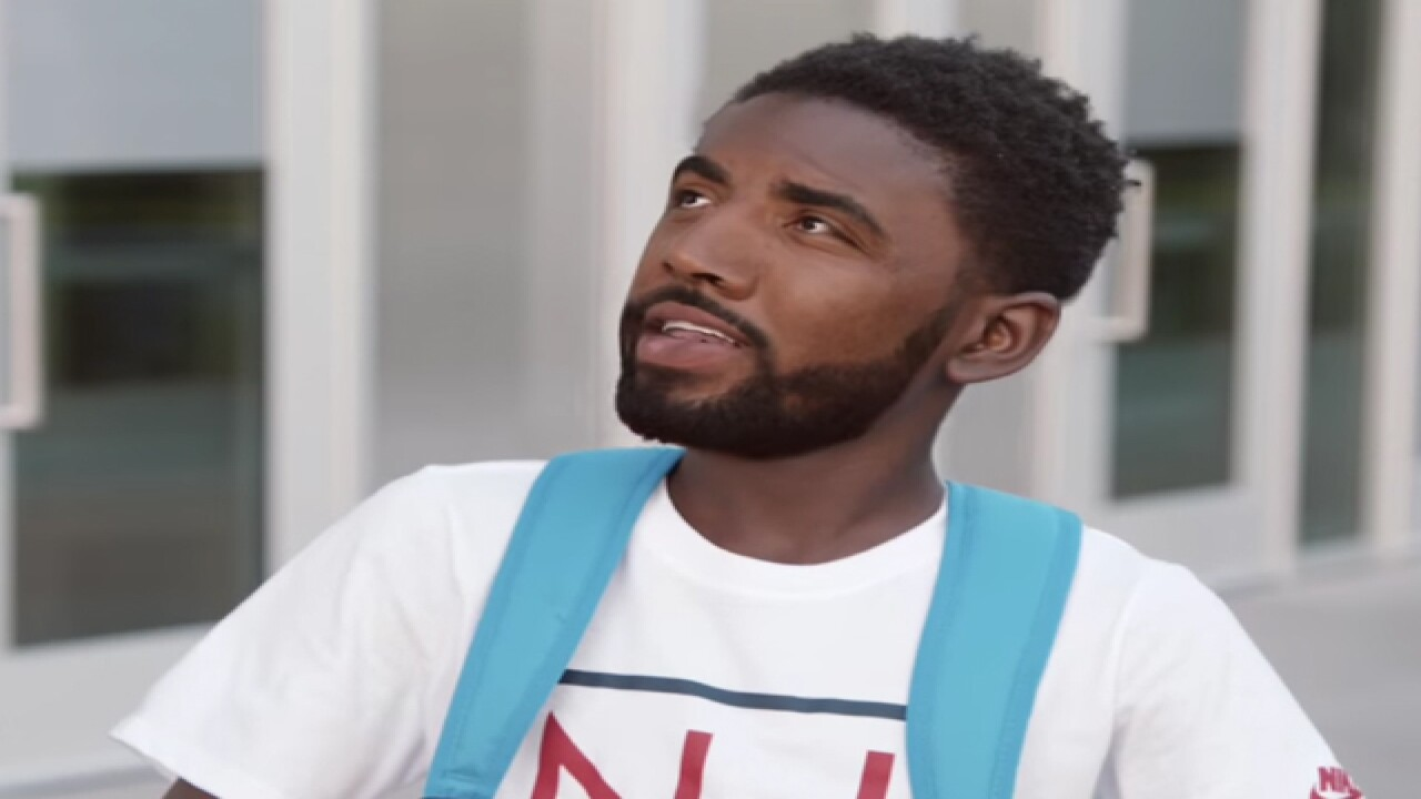 74b6be7abd21 WATCH  Cavs Kyrie Irving stars in funny Kids Foot Locker commercial