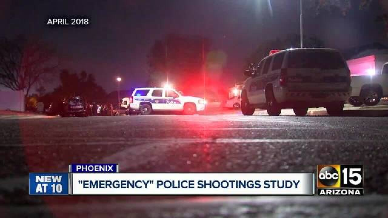 PHX PD chief wants study on police shootings