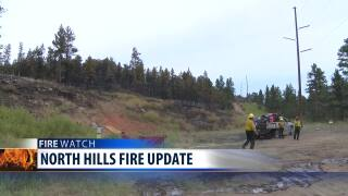 Some evacuation orders have been lifted for the North Hills Fire