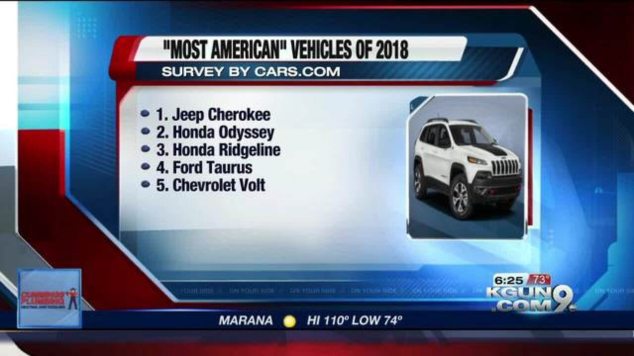 List Of American Cars >> Cars Com Releases The List Of Most American Vehicles Of 2018