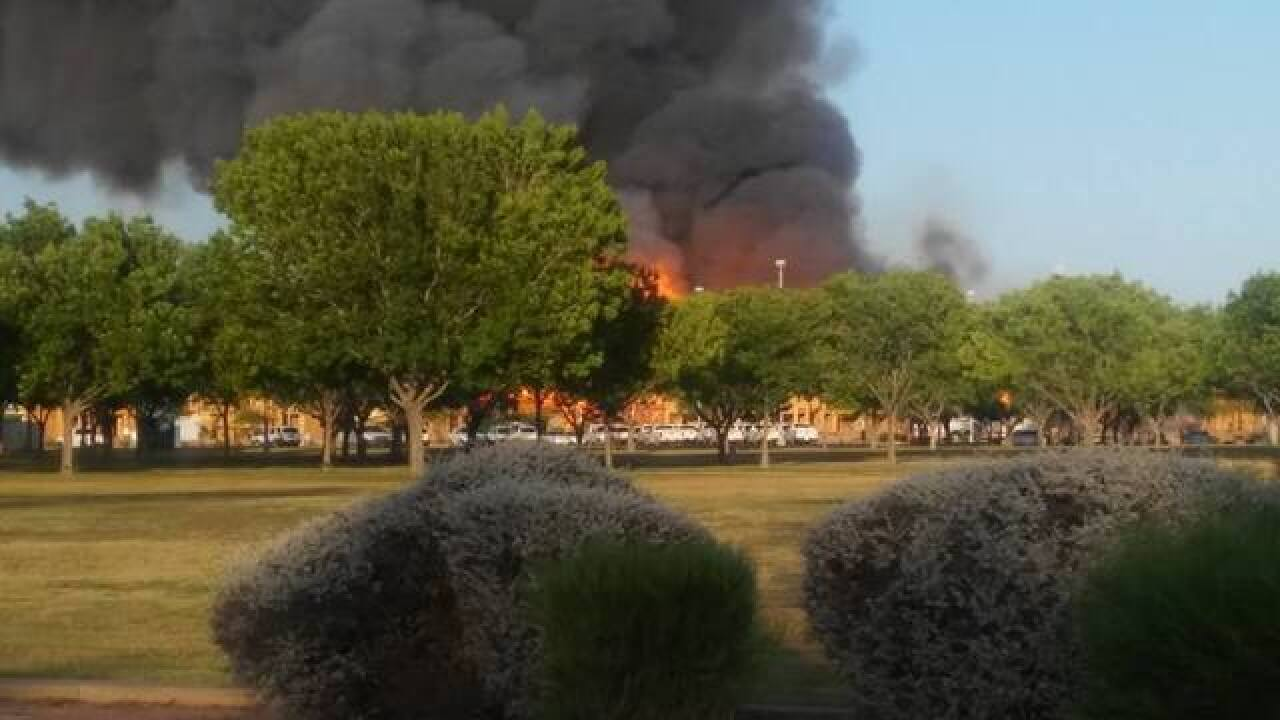 PHOTOS: 5-alarm fire engulfs Gilbert work site