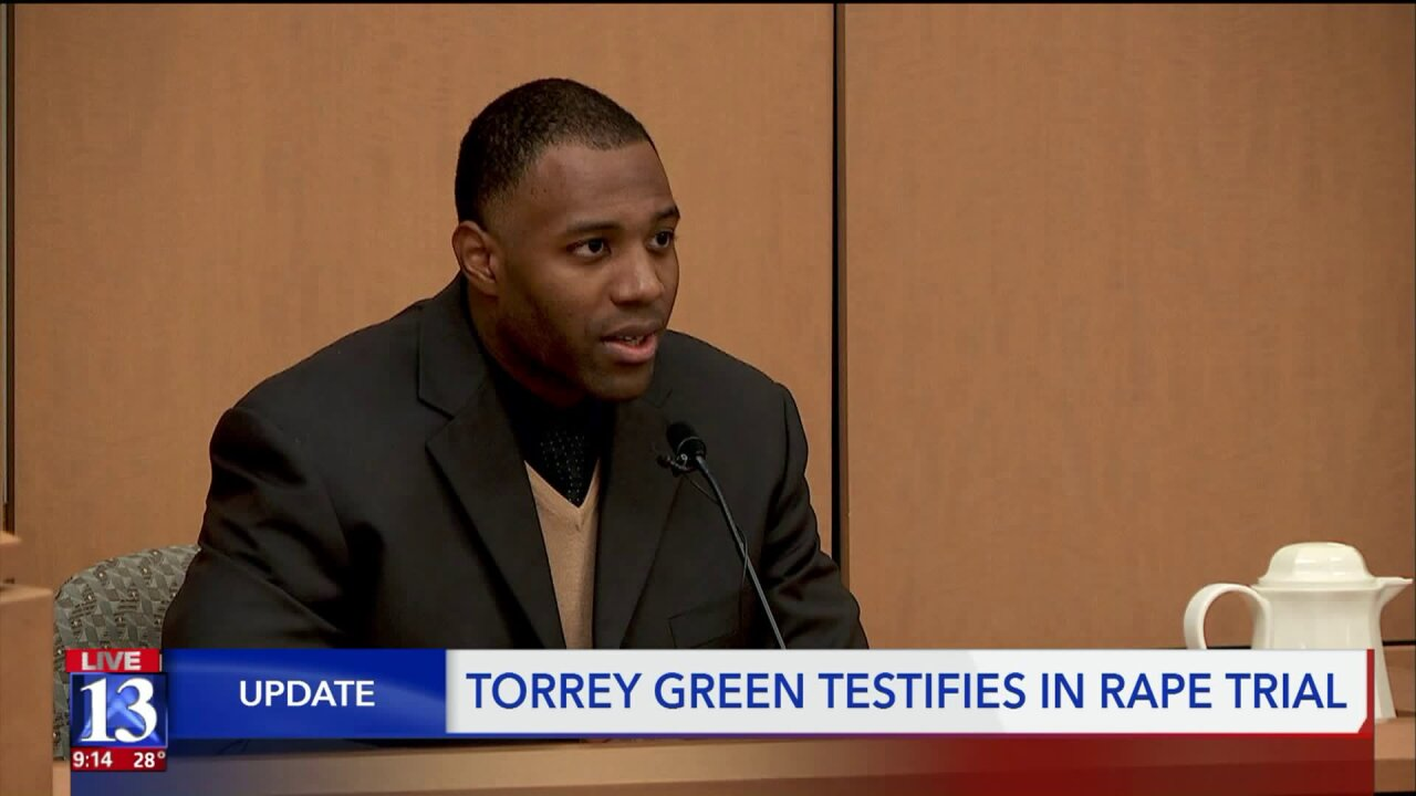 Former USU football player Torrey Green testifies at rape trial
