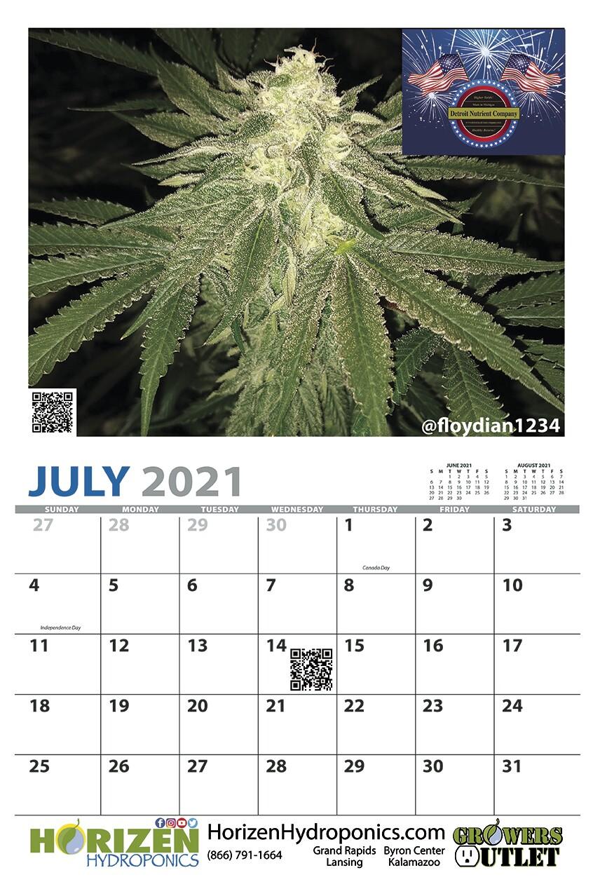 Horizen Hydroponics Grow Room calendars