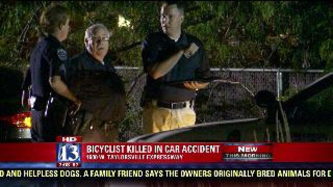 Bicyclist killed in car accident
