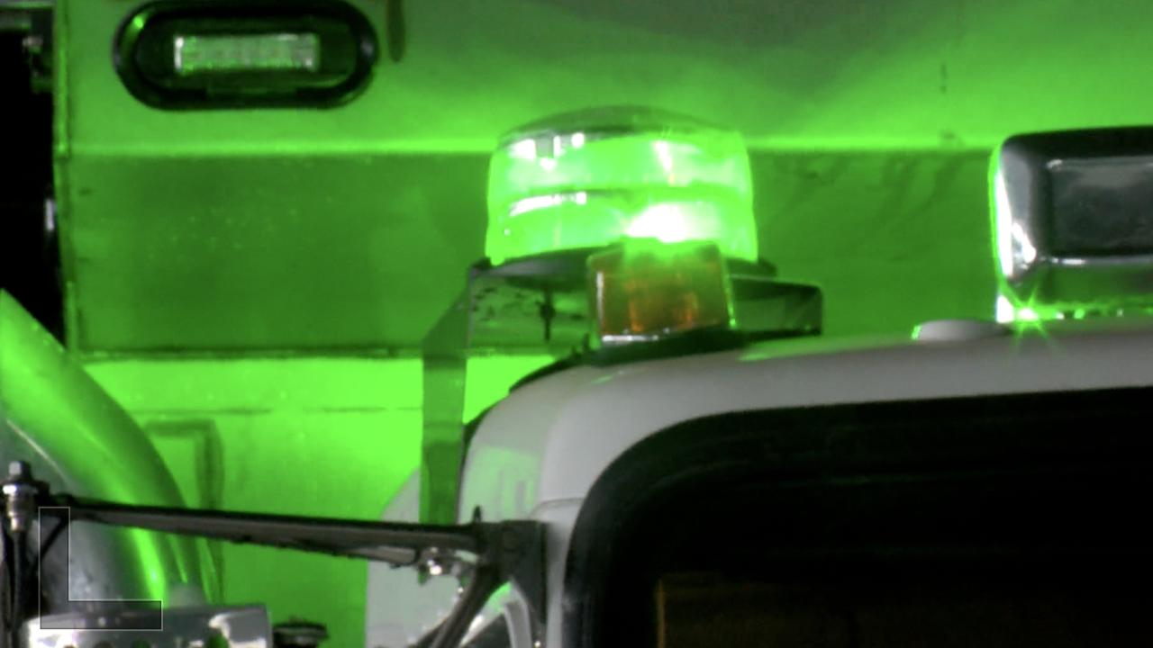 snow plow green light