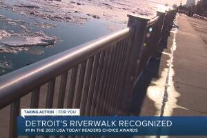Detroit Riverwalk named best riverwalk in America in USA Today's Readers' Choice Awards