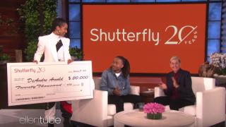 Ellen DeGeneres surprises teen told to cut dreads with $20Kscholarship