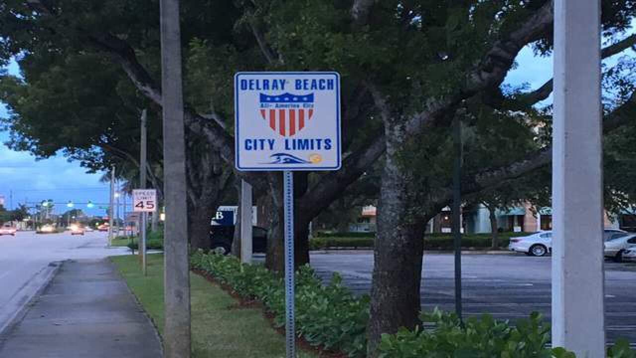 Delray Beach City Limits sign