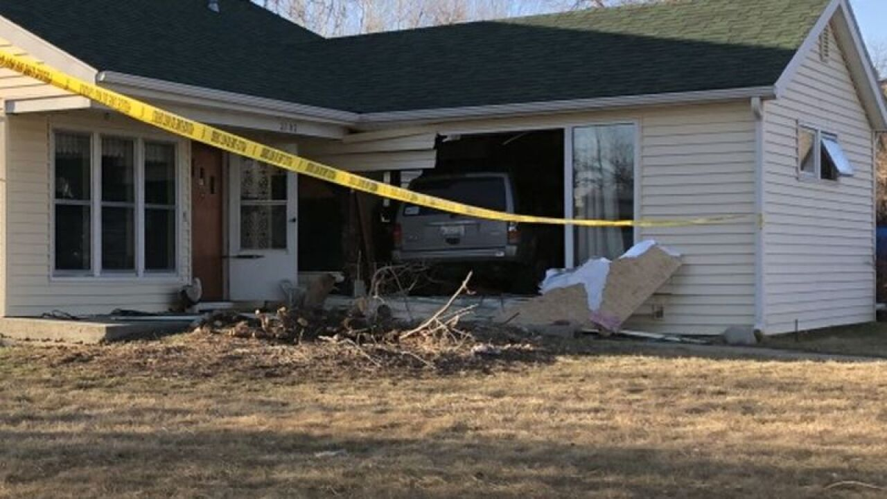 Vehicle crashes into Billings house