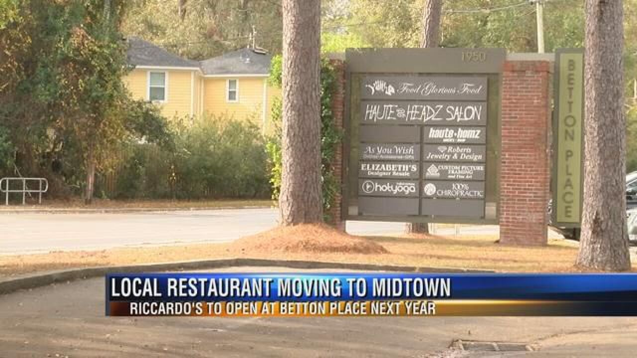 Longtime Tallahassee Restaurant Moving to Midtown