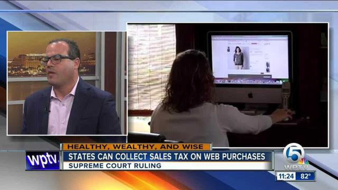 States can collect sales tax on website purchases