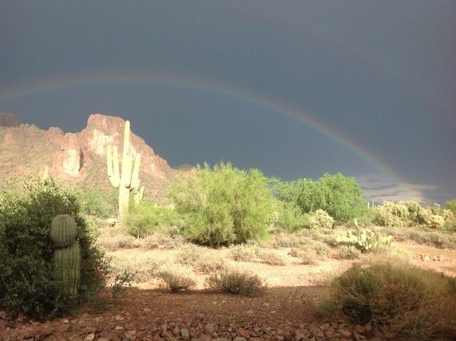 Double rainbow seen in East Valley