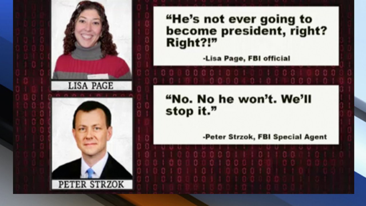 Anti-Trump texts 'cast a cloud' over email probe, FBI report says