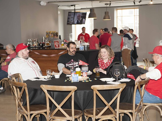 Cincinnati Reds fans celebrate Opening Day