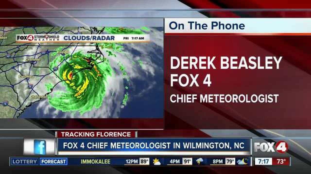 Fox 4 Chief Meteorologist reports from N.C.