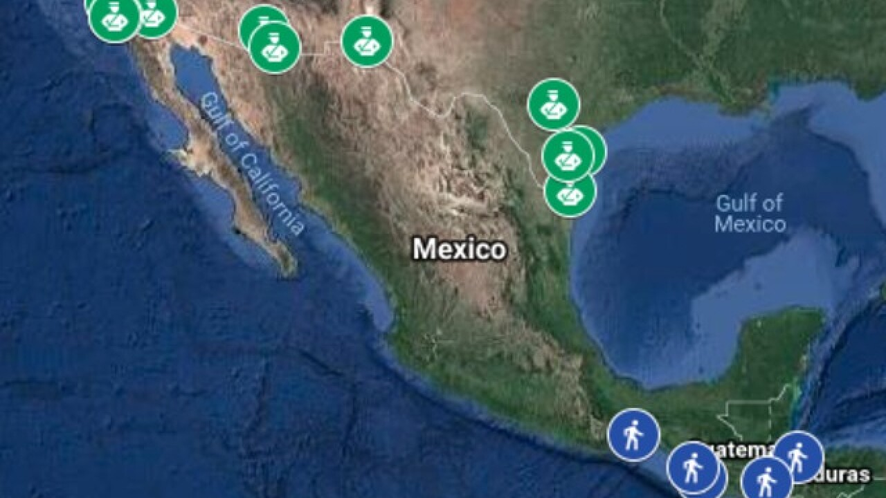 Interactive Map Migrant Caravan Journeys To Us Mexico Border