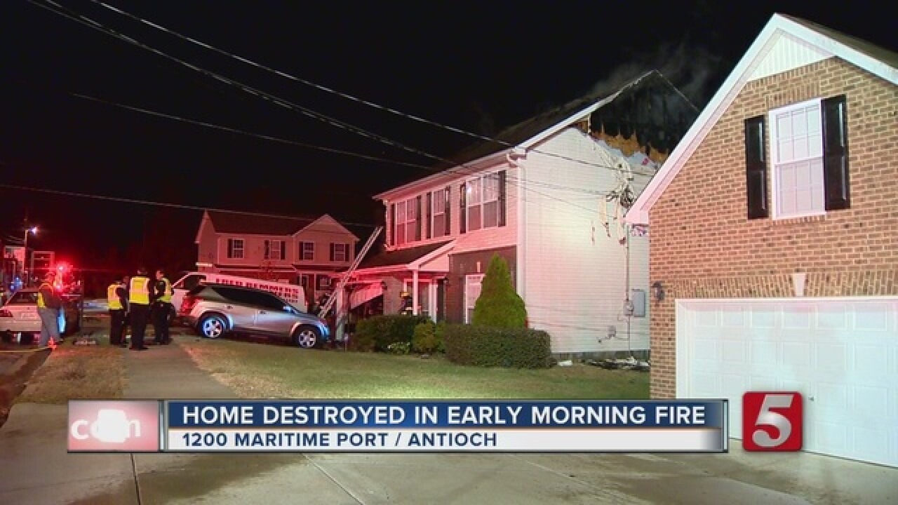 Home Destroyed In Fire On Maritime Port