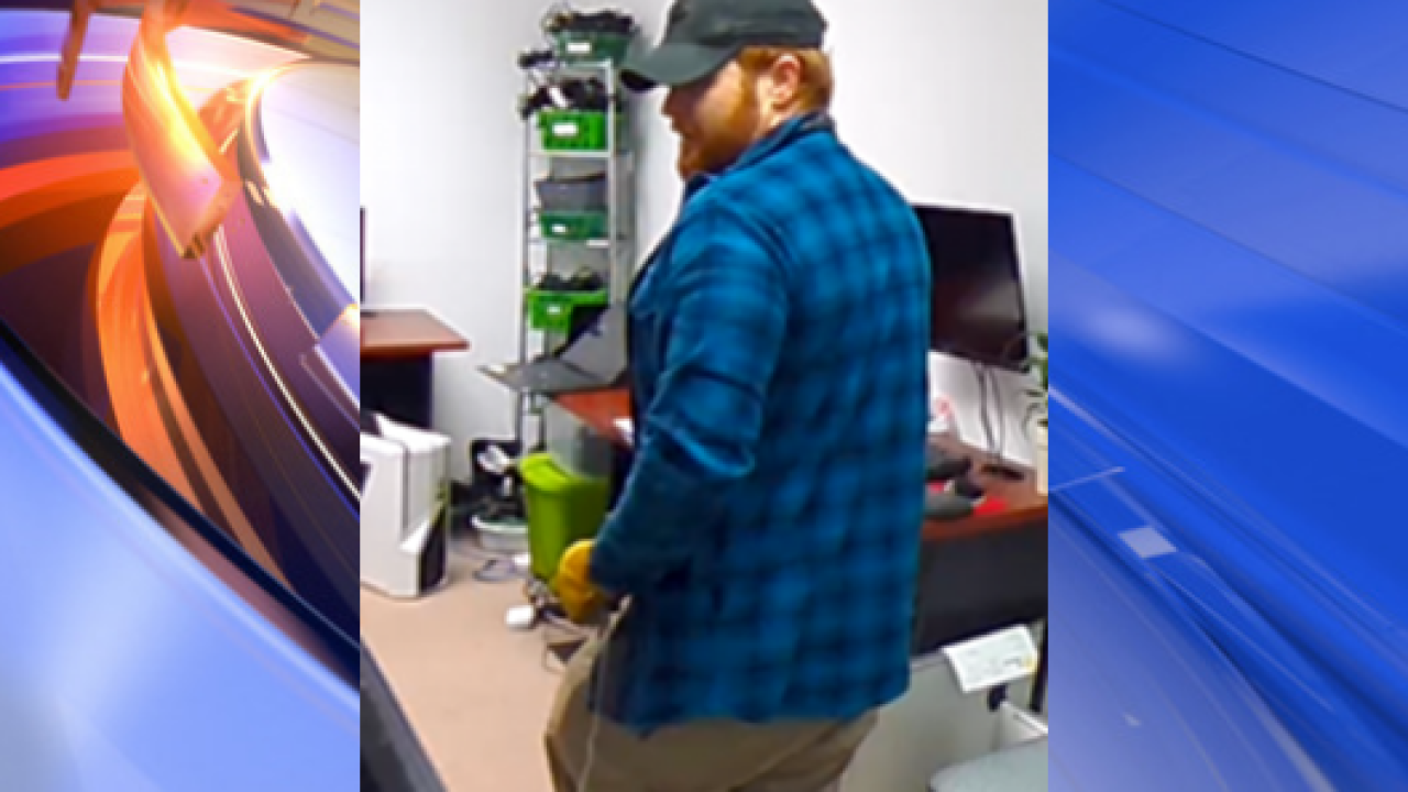 Virginia Beach Police search for suspect after computers stolen from businesses