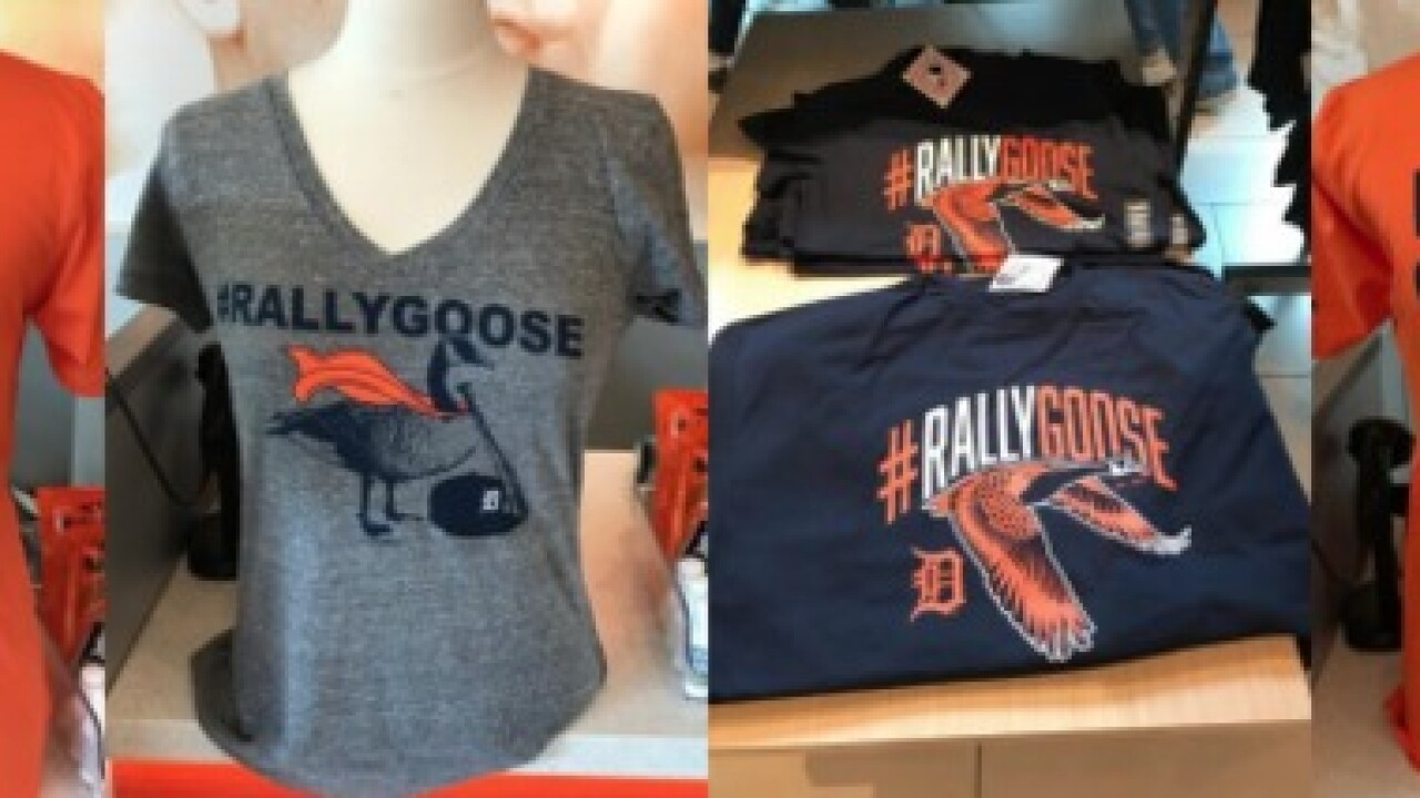 Rally Goose returns to Comerica Park with licensed apparel