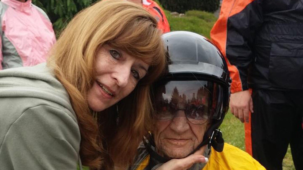Hospice patient gets motorcycle ride wish