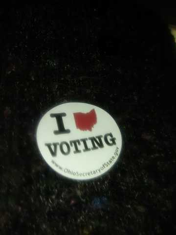 You Voted! Ohio voters show off their stickers
