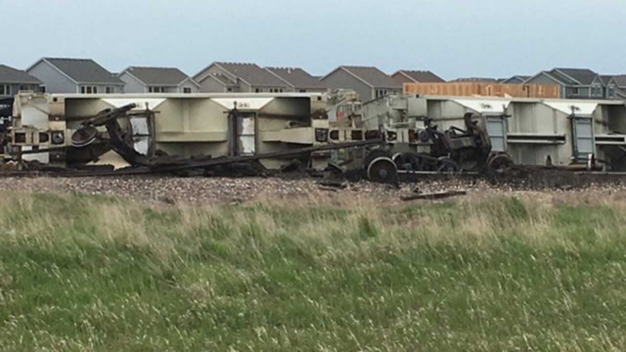 Train derails southeast of Fort Collins