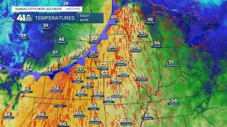 A cold front is on the move