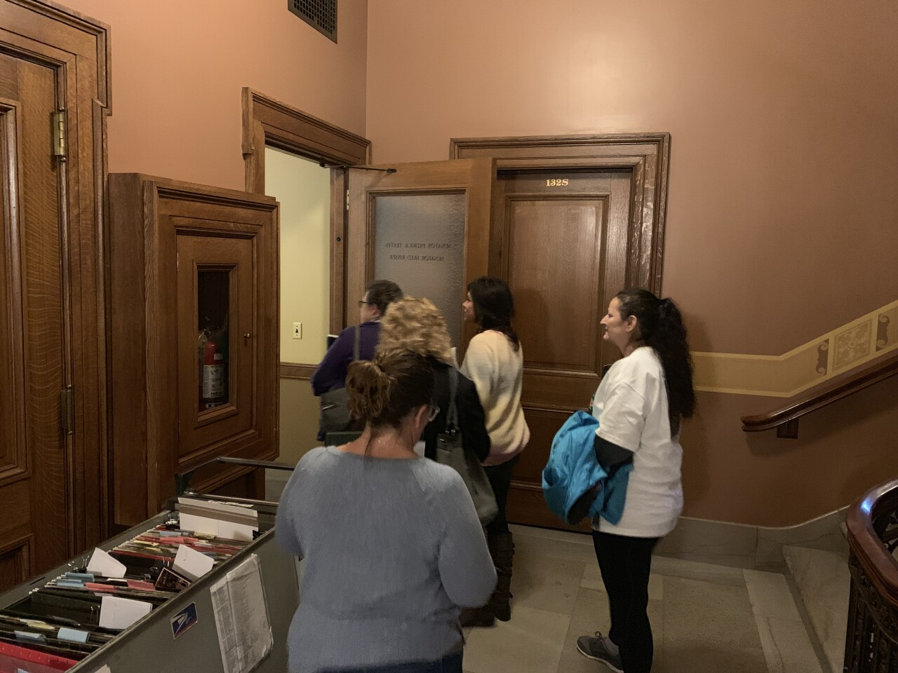 victim advocates visit Sen. Testin
