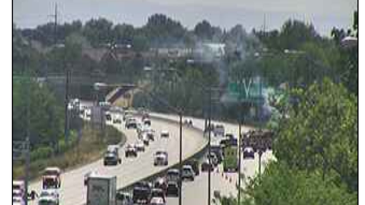 TRAFFIC ALERT: Fire blocking lanes of I-84 in Boise