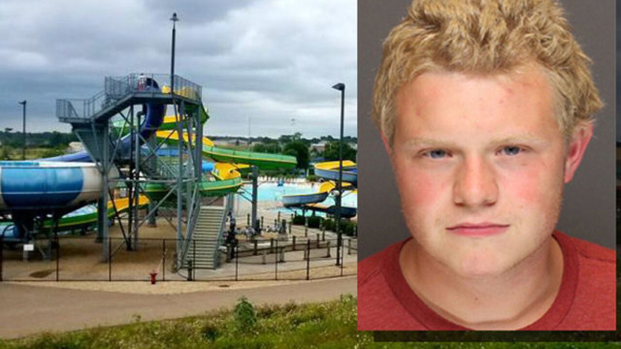 Roman Adams: 18-year-old accused of pushing boy off Minnesota water slide