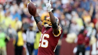 Run it back: Redskins re-sign running back Adrian Peterson to two-year contract