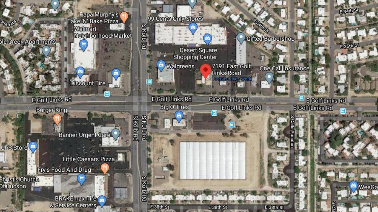 Tucson police evacuated an eastside bank Thursday due to a bomb threat. Photo courtesy Google Maps.
