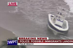 9 to 12 immigrants land on Palm Beach, 7 in custody