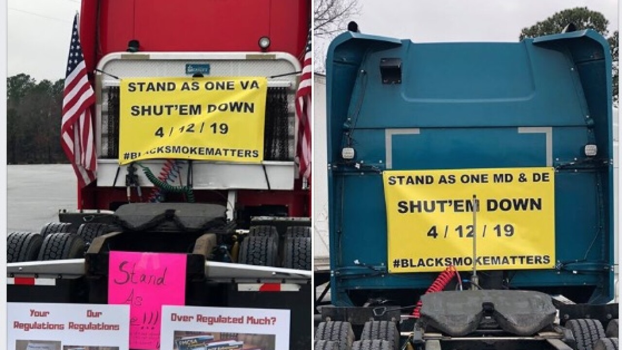 'Slow Roll' convoy of tractor-trailers on I-95 previews April 12 nationwideprotest