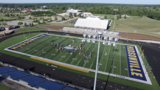 Hudsonville football practice from the FOX 17 Skyview