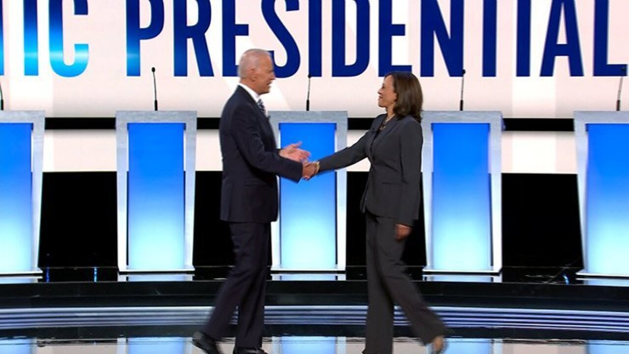 Biden tells Harris to 'go easy on me, kid' as candidates spar in early stages