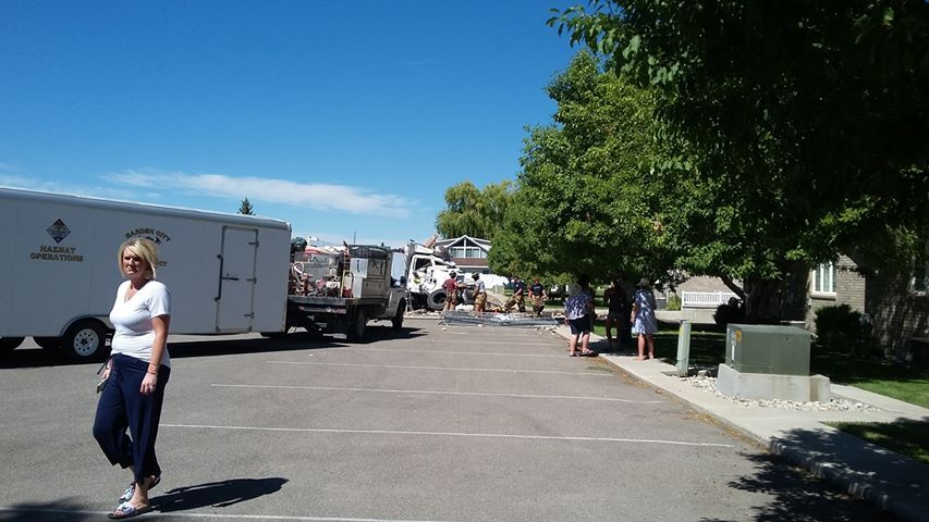 Photos: Truck crashes through Bear Lake intersection, buildings for 3rd time in ayear