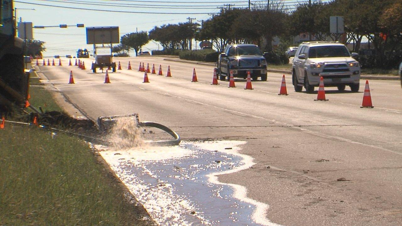 Traffic alert: Multiple water main breaks close Waco roads