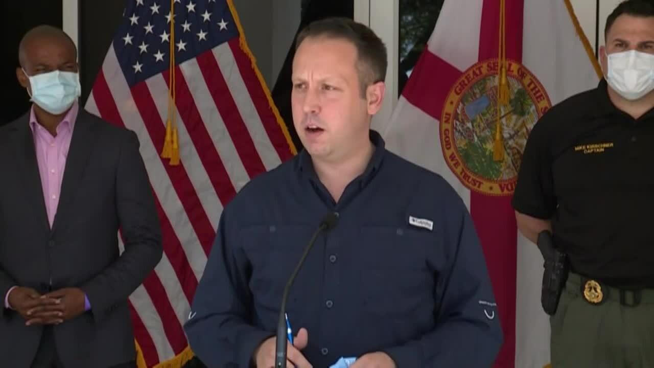 Palm Beach County Mayor Dave Kerner at coronavirus news conference, June 26, 2020