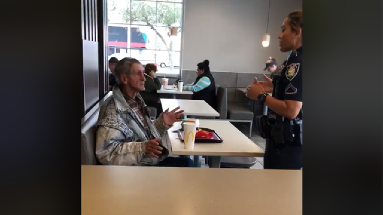 Man reportedly kicked out of McDonald's after buying homeless man food