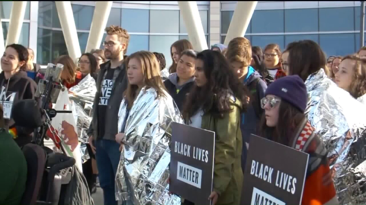 Hundreds gather for protest organized by Black Lives Matter in Salt Lake City
