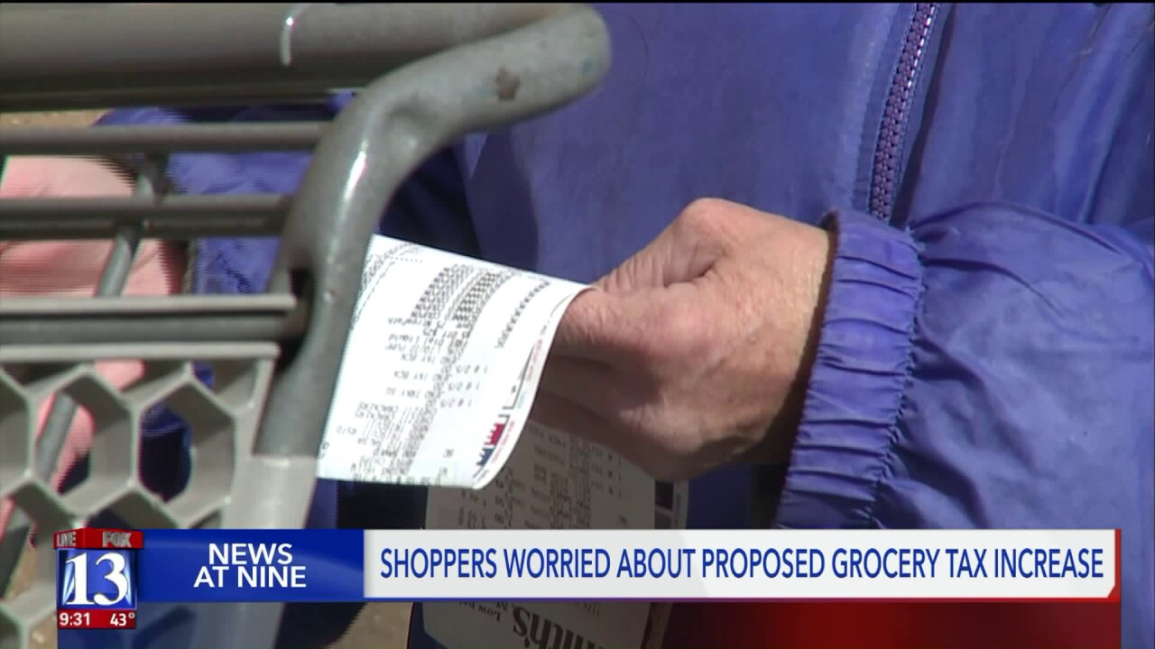 Locals concerned over proposed grocery tax increase in Utah