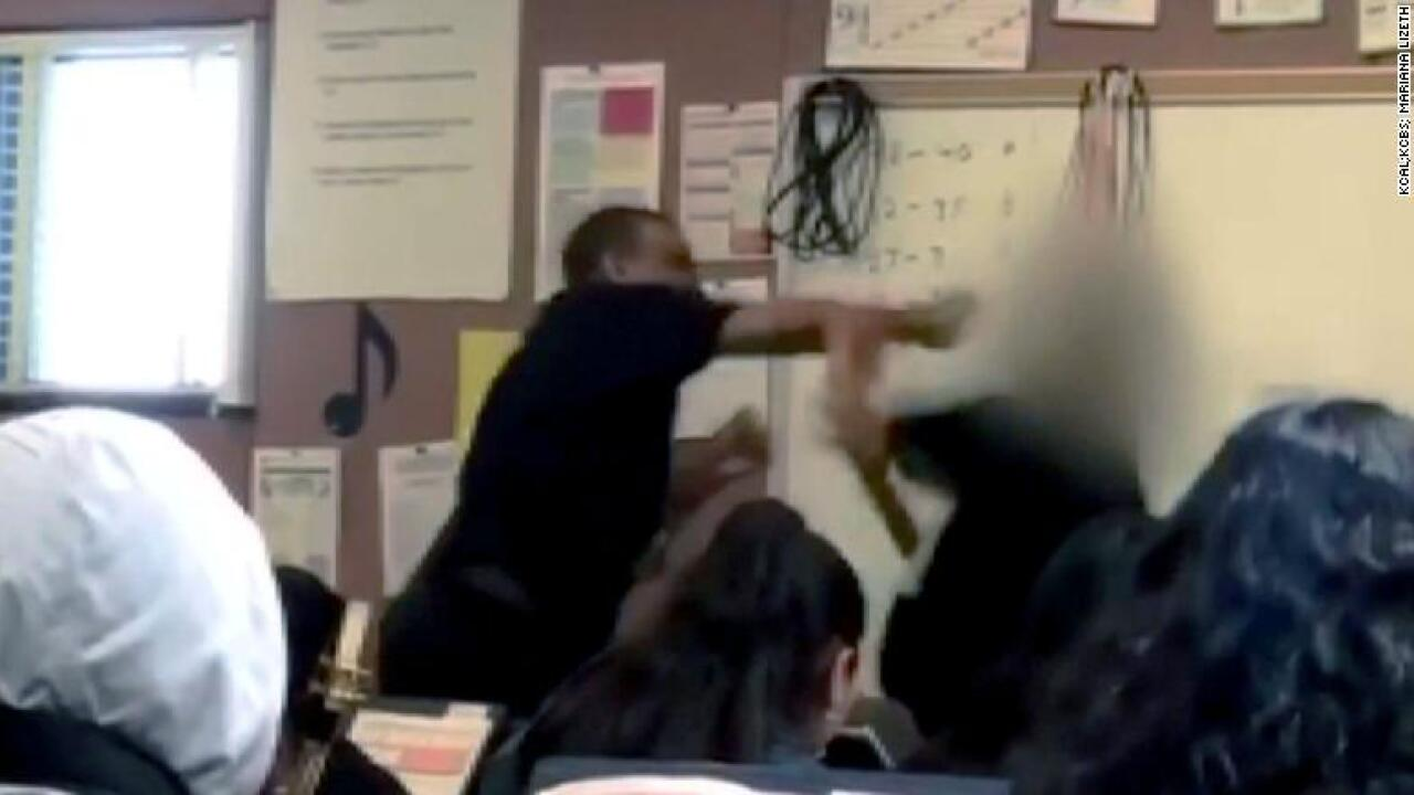 California teacher caught on camera punching 14-year-old boy
