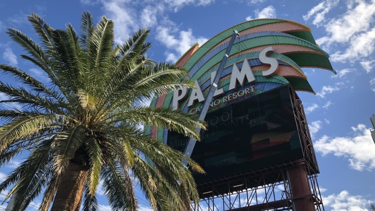 Palms hotel-casino replacing marquee sign